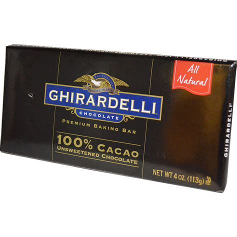 top 100 chocolate bars ghirardelli premium baking bar 100 cacao unsweetened