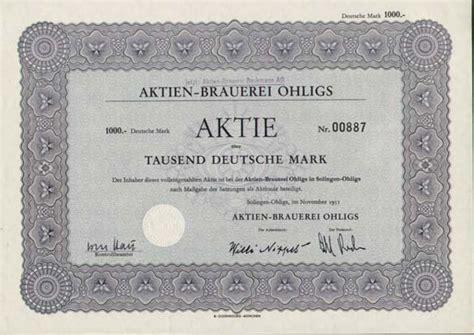 deutsche bank ohligs angebot des monats deutsche historische wertpapiere ab 1945
