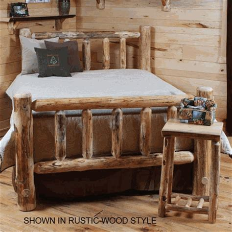 log bed kits standard pine log bed kit