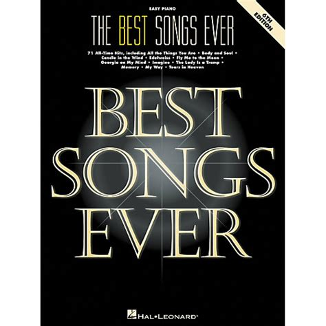 best song th hal leonard best songs ever for easy piano 6th edition