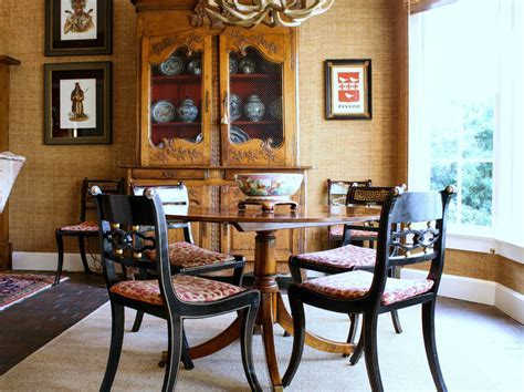 small round dining table Dining Room Contemporary with