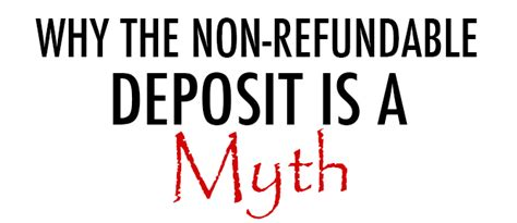 When Should I Submit Deposit For Mba With Visa by Why The Non Refundable Photography Deposit Is A Myth Diy
