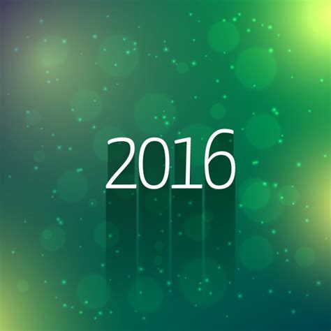 new year green green bokeh 2016 new year card vector free