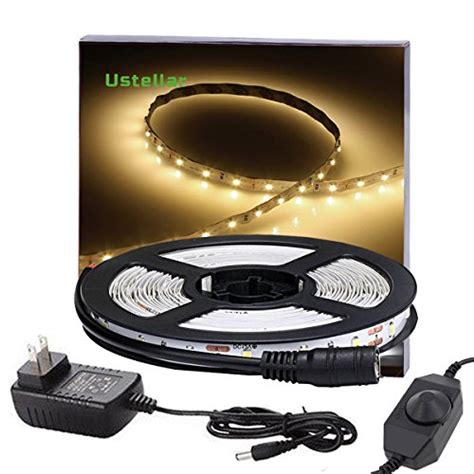dimmable led light strips ustellar dimmable led light kit with ul listed power supply 300 units smd 2835 leds 16
