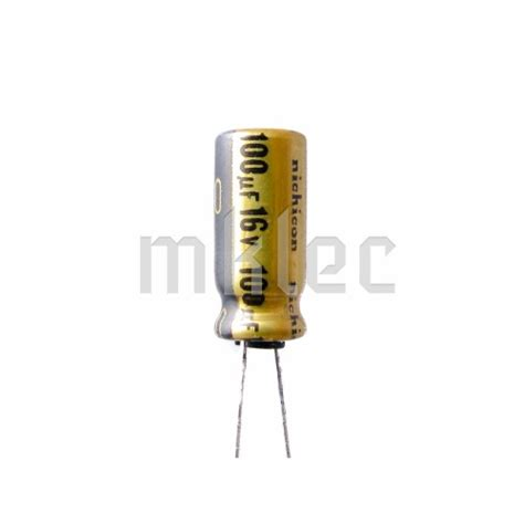 100uf 16v audio grade electrolytic capacitor nichicon
