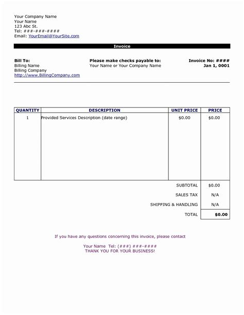 50 Fresh Free Invoice Template I Need An Invoice Form Images Free Invoice Template 2018 I Need A Will Template