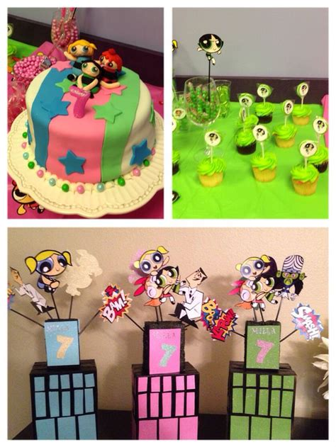 powerpuff girls birthday party my pinterest inspired power puff girls cake decorations kid s birthday party