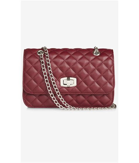 Quilted Bag With Chain by Express Quilted Chain Shoulder Bag In Wine