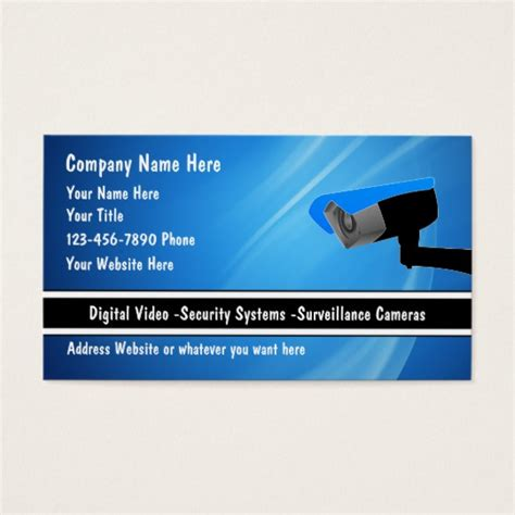 Security Business Cards Templates by Business Card Template Security Charlesbutler