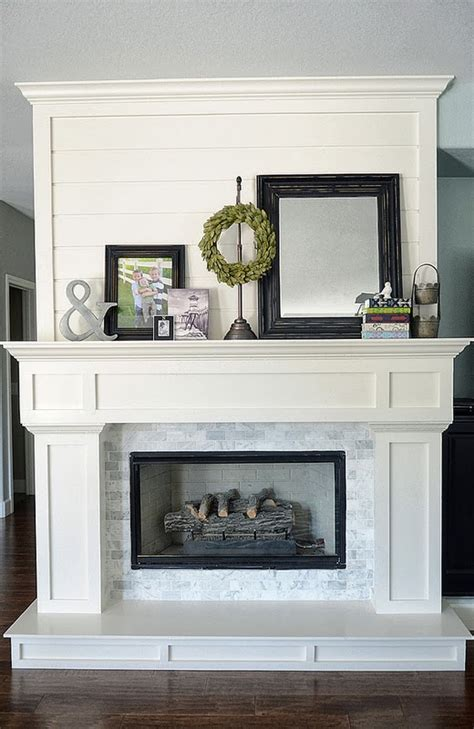Fireplace Mouldings by Beautiful Fireplace Using Moulding And Small Subway Tiles
