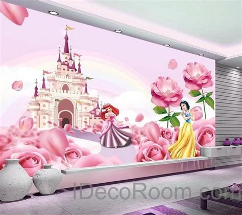 disney princess home decor 3d disney princess castle wallpaper princess ariel snow