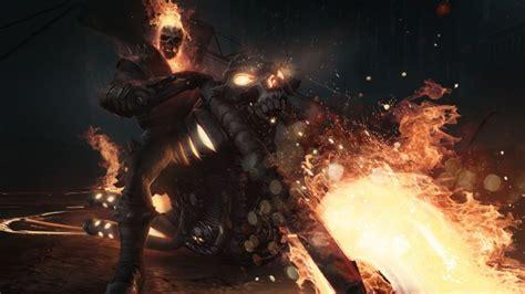 wallpaper ghost rider motorcycle skull flames artwork