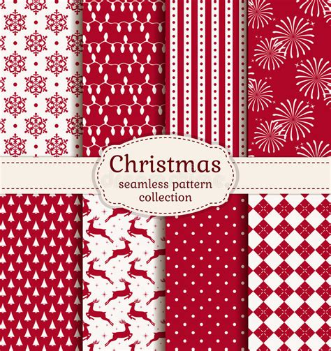 best color schemes for new years backrground seamless patterns vector set stock vector image 47593713