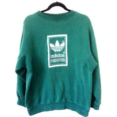 Sweater Adidas Unisex 4 90s vintage adidas sweatshirt unisex from ladyboysvintage on etsy