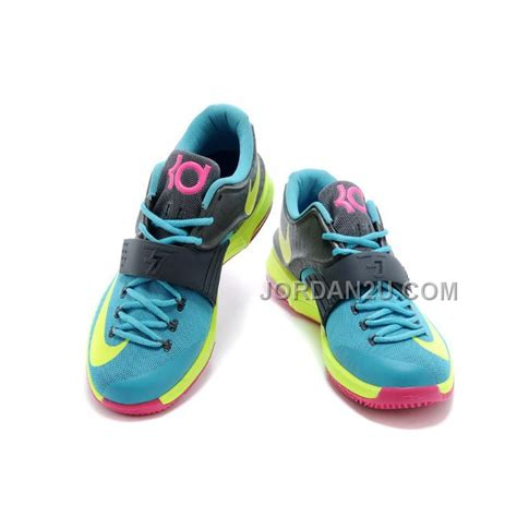 Schuhe Nike Kd Vii 7 Carnival Hyper Jade Base Hyper Rosa Kaufen Volt Grau Dunkel P 372 nike kevin durant kd 7 vii carnival hyper jade volt