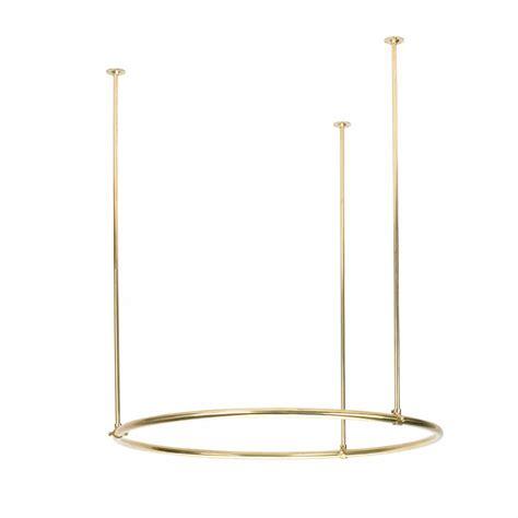 round shower curtain rods shower curtain rod brass round 32 quot