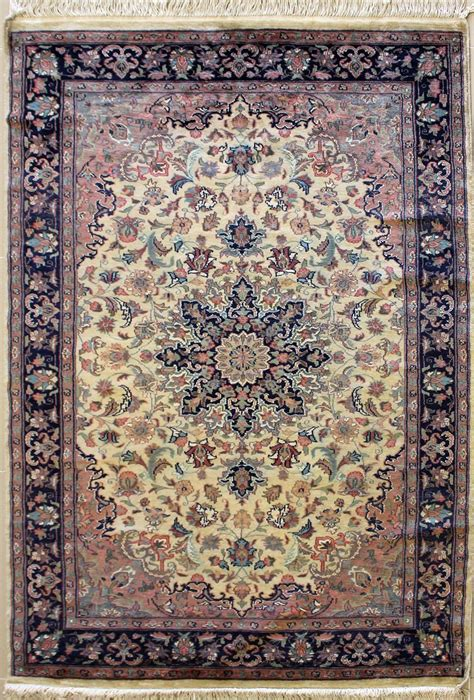 4 0x6 2 Rug Kirman Handmade Pak Persian Silk And Wool Pak Rugs
