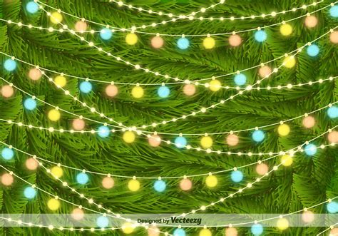 christmas tree light patterns tree lights on pine needles vector background free vector stock