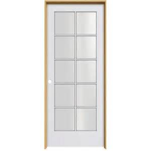 home depot prehung interior door jeld wen smooth 10 lite primed pine prehung interior door