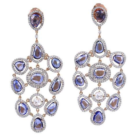 sapphire chandelier earrings sapphire gold chandelier earrings for sale at 1stdibs