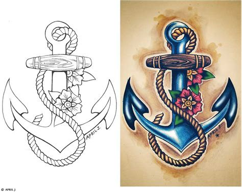 old school navy tattoos traditional school tattoos sailor anchor design