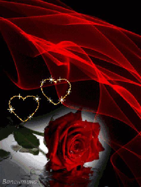 imagen de amor de una rosa con corazones rosados gif animados de rosas rojas y corazones