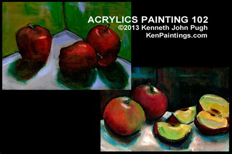 acrylic painting dvds acrylics painting 102 still apples