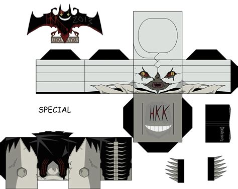 Note Papercraft - sidoh paper free printable papercraft templates
