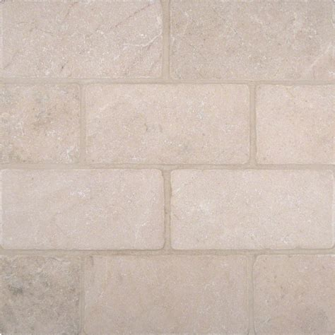 Marble Granite Tiles Crema Marfil 3x6 Tumbled Tile Colonial Marble Granite