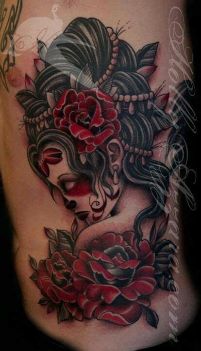 dead roses tattoo day of the dead chicano tattoos