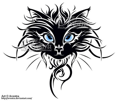 cat tribal tattoos cat tribal by avestra on deviantart