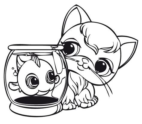 lets pet shop az dibujos colorear
