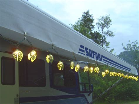motorhome awning lights rving the usa is our big backyard motorhome