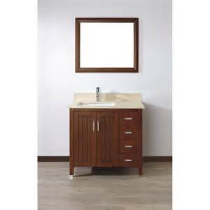 Bathroom Vanity Top 36 X 22 Shop Spa Bathe Jaq Classic Cherry Undermount Single Sink