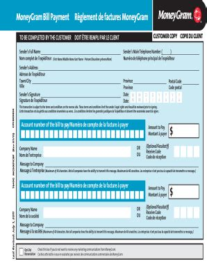 moneygram receiver form  fill  printable