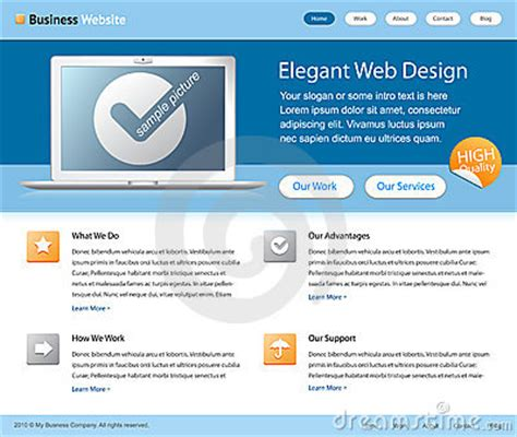 web design business from home business web site design template royalty free stock photo
