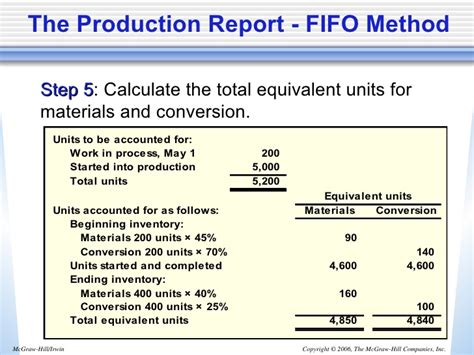 process cost report using fifo method template managerial accounting by g norren chap004
