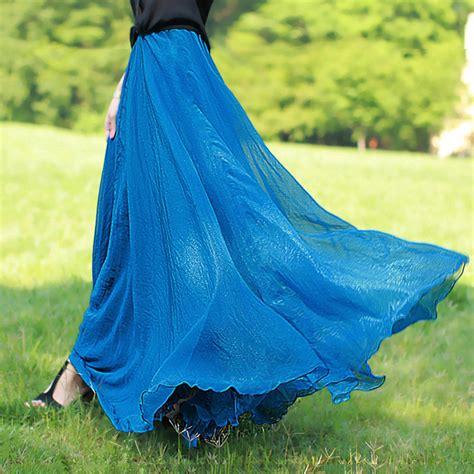 summer elastic waist vintage skirts cool