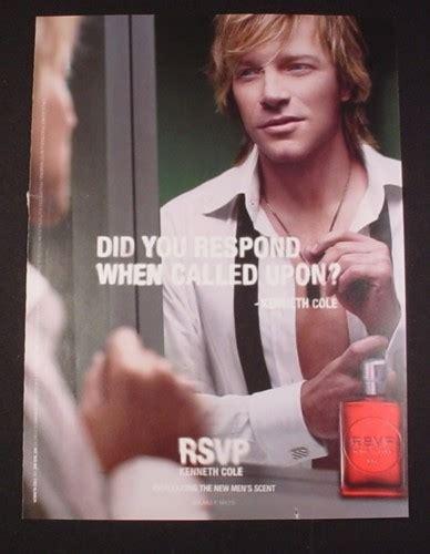 Rsvp To Help Kenneth Cole And Bon Jovi Team Up For A Cause by Magazine Ad For Rsvp Kenneth Cole Fragrance For 2007