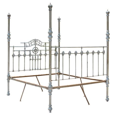 Metal 4 Poster Bed Frame 19th Century Steel Anglo Indian Four Poster Bed Frame For Sale At 1stdibs