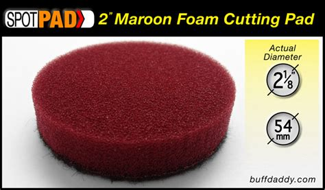 Ipo Foam Buffing Pad 8 Maroon 1 quot and 2 quot foam buffing pads microfiber discs