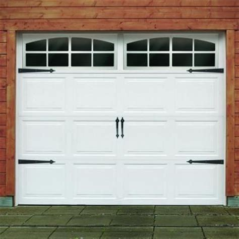 black traditional decorative garage hardware kit