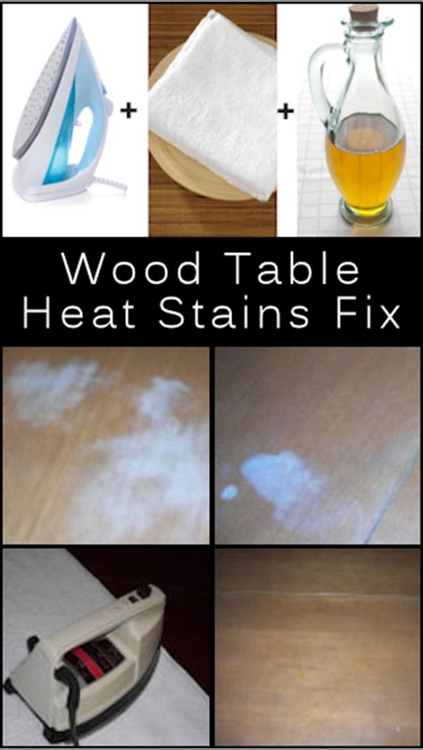 Heat Stains On Wood Table by Remove White Heat Stains On Wood Table Diy Craft Projects