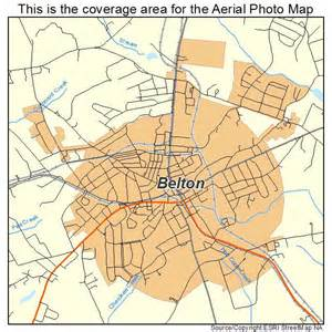 aerial photography map of belton sc south carolina
