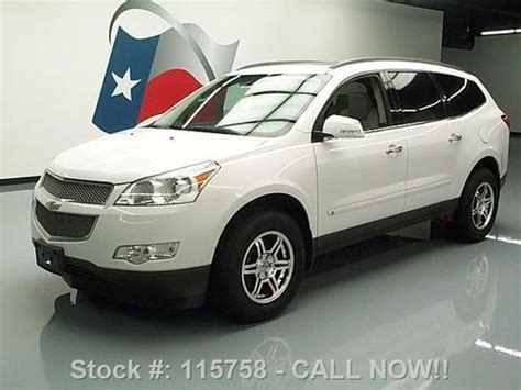 how cars engines work 2009 chevrolet traverse navigation system find used 2009 chevy traverse ltz sunroof nav rear cam dvd 60k mi texas direct auto in stafford