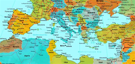 map of mediterranean world map mediterranean countries choice image word map