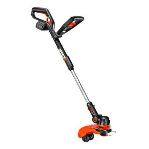 worx 12 in 32 volt lithium ion cordless grass trimmer