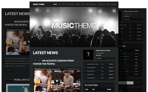 best website to songs the theme beautiful responsive themes