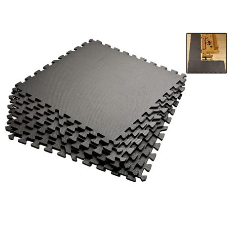 grey 72 sqft anti fatigue exercise mats foam floor
