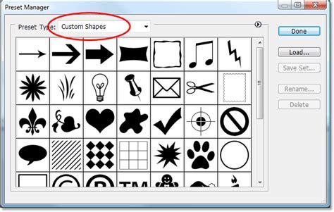 adobe photoshop shapes tutorial creating custom shape sets in photoshop